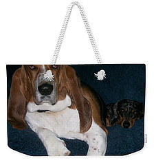 Weekender Tote Bag featuring the photograph Buddies by Peter Suhocke