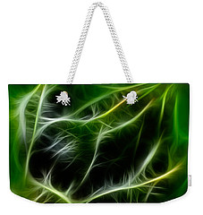 Weekender Tote Bag featuring the painting Budding Beauty by Omaste Witkowski