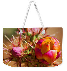 Budding Cactus Weekender Tote Bag by Fred Larson