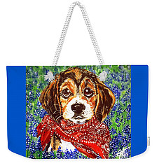 Buddy Dog Beagle Puppy Western Wildflowers Basset Hound  Weekender Tote Bag