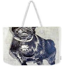 Weekender Tote Bag featuring the drawing Buddy by Jamie Frier