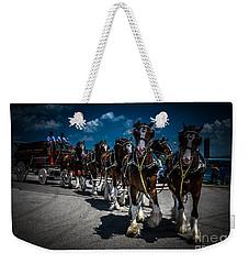 Budweiser Clydesdales Weekender Tote Bag