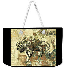 Weekender Tote Bag featuring the photograph Buffalo 7 by Larry Campbell