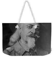 Weekender Tote Bag featuring the photograph Buffalo Bill Cody by Charles Beeler