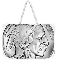 Buffalo Nickel Weekender Tote Bag by Greg Joens