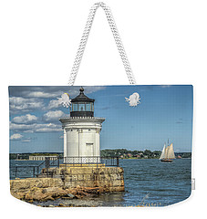 Weekender Tote Bag featuring the photograph Bug Light by Jane Luxton