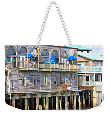 Building On Piles Above Water Weekender Tote Bag by Lorna Maza