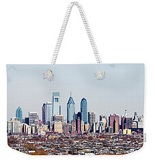 Buildings In A City, Comcast Center Weekender Tote Bag by Panoramic Images