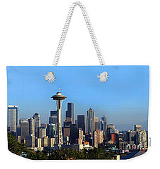 Buildings In A City With Mountains Weekender Tote Bag