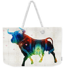 Bull Art - Love A Bull 2 - By Sharon Cummings Weekender Tote Bag by Sharon Cummings