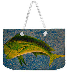 Bull Dolphin Mahimahi Fish Weekender Tote Bag