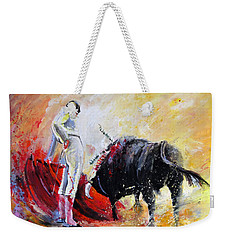 Bull In Yellow Light Weekender Tote Bag