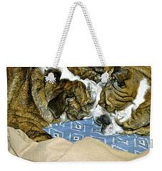 Bulldog Love Forever  Weekender Tote Bag by Lehua Pekelo-Stearns