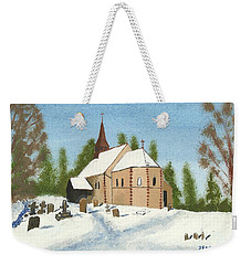Weekender Tote Bag featuring the painting Bulley Church by John Williams