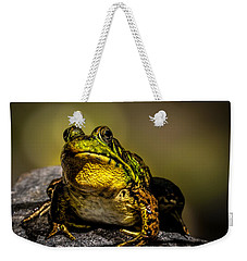 Bullfrog Watching Weekender Tote Bag by Bob Orsillo