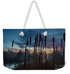 Bulrush Sunrise Weekender Tote Bag