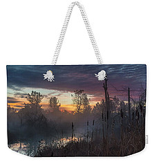 Bulrush Sunrise Full Scene Weekender Tote Bag