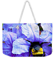 Weekender Tote Bag featuring the photograph Bumblebee Brunch by Dee Dee  Whittle