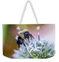 Bumblebee On Thistle Blossom Weekender Tote Bag by Marty Saccone