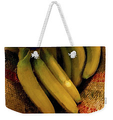 Weekender Tote Bag featuring the painting Bunch Of Bananas by Joan Reese