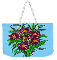 Weekender Tote Bag featuring the digital art Bunch Of Daisies by Christine Fournier
