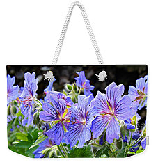 Weekender Tote Bag featuring the photograph Bunches by Clare Bevan