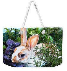 Bunny In The Herb Garden Weekender Tote Bag by Jane Schnetlage