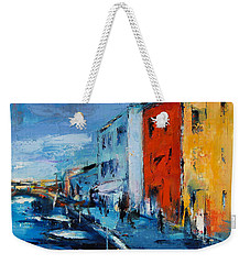 Burano Canal - Venice Weekender Tote Bag by Elise Palmigiani