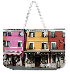 Weekender Tote Bag featuring the painting Burano by Robin Maria Pedrero