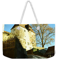 Weekender Tote Bag featuring the photograph Burgdorf Castle In December by Felicia Tica