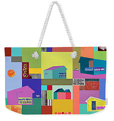 Weekender Tote Bag featuring the photograph Burger Joint #1 by Elena Nosyreva
