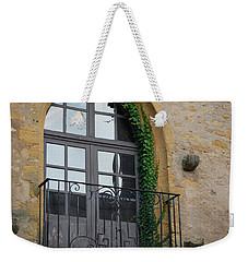 Burgundy Window Weekender Tote Bag