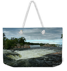 Weekender Tote Bag featuring the photograph Burleigh Falls by Barbara McMahon