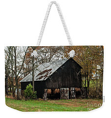 Weekender Tote Bag featuring the photograph Burley Tobacco  Barn by Debbie Green