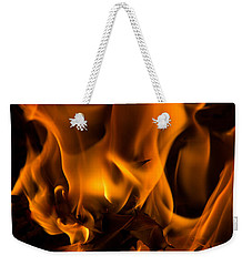 Burning Holly Weekender Tote Bag