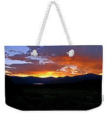 Weekender Tote Bag featuring the photograph Burning Of Uncertainty by Jeremy Rhoades