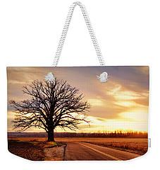 Burr Oak Silhouette Weekender Tote Bag