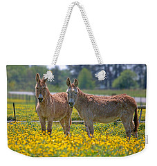 Burros In The Buttercups Weekender Tote Bag