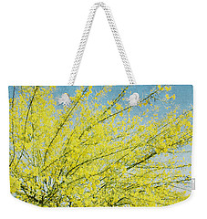 Weekender Tote Bag featuring the photograph Burst Forth - Square by Lisa Parrish