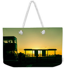 Bus Stop At Sunset Weekender Tote Bag