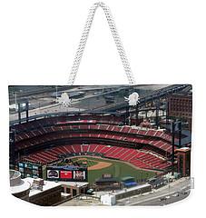 Busch Memorial Stadium Weekender Tote Bag by Thomas Woolworth