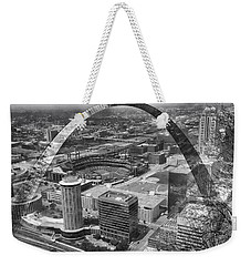 Busch Stadium Bw A View From The Arch Merged Image Weekender Tote Bag