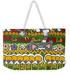 Busted Weekender Tote Bag by Rojax Art