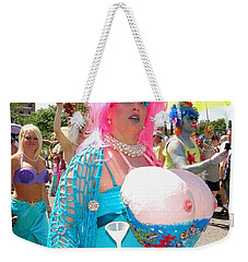 Weekender Tote Bag featuring the photograph Busty Mermaid by Ed Weidman
