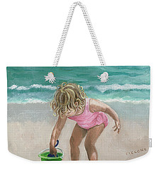 Busy Beach Girl Weekender Tote Bag