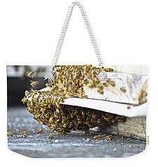Busy Bees Weekender Tote Bag by Laura Forde