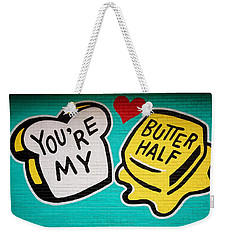 Butter Half Weekender Tote Bag