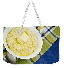 Cheese Grits With A Pat Of Butter Weekender Tote Bag