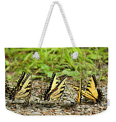 Weekender Tote Bag featuring the photograph Butterflies by Rowana Ray