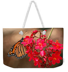 Weekender Tote Bag featuring the photograph Butterfly 1 by Leticia Latocki